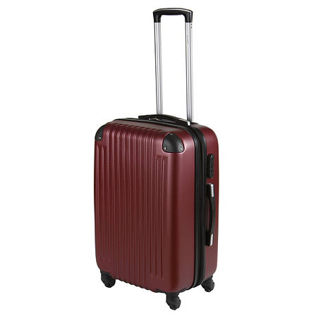 Чемодан Wallaby средний пластиковый  ABS  57(+6)х39х27(+3) цвет бордовый  в 6265-22бор, фото 2