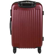 Чемодан Wallaby средний пластиковый  ABS  57(+6)х39х27(+3) цвет бордовый  в 6265-22бор, фото 3