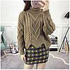 Вязаный свитер с узорами 42-46, фото 2