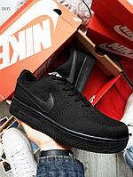 Мужские кроссовки Nike Air Force Flyknit Low Black