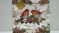 Салфетка (ЗЗхЗЗ, 20шт) LuxyНГ Птичье Рождество(1240) (1 пач) заходи на сайт Уманьпак