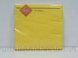 Салфетки бумажные красивые (ЗЗхЗЗ, 20шт) Luxy Желтый (3-9) (1 пач)