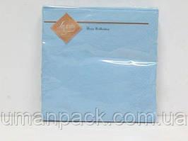 Салфетки бумажные декоративные (ЗЗхЗЗ, 20шт) Luxy Голубая (4-3) (1 пач)