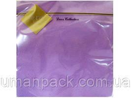 Салфетки бумажные дизайнерские (ЗЗхЗЗ, 20шт) Luxy Фиолетовая (1 пач)