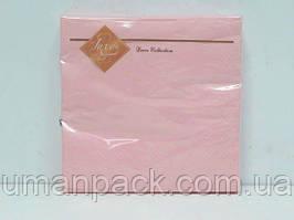 Салфетки бумажные дизайнерские (ЗЗхЗЗ, 20шт) Luxy Розовая (3-10) (1 пач)
