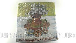 Салфетки бумажные праздничные (ЗЗхЗЗ, 20шт) Luxy  Вербовый букет (406) (1 пач)