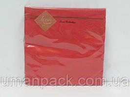 Салфетки бумажные декоративные (ЗЗхЗЗ, 20шт) Luxy Красная (3-7) (1 пач)