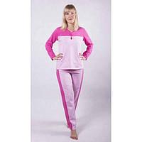 Женская пижама из хлопкового трикотажа с начесом разных цветов 44-58 р