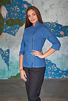 Китель поварской джинсовый женский, униформа повара, индивидуальный пошив, все размеры