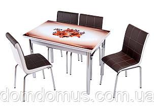 Комплект кухонних меблів (стіл ДСП, гартоване скло + 4 стільця) Mobilgen, Туреччина