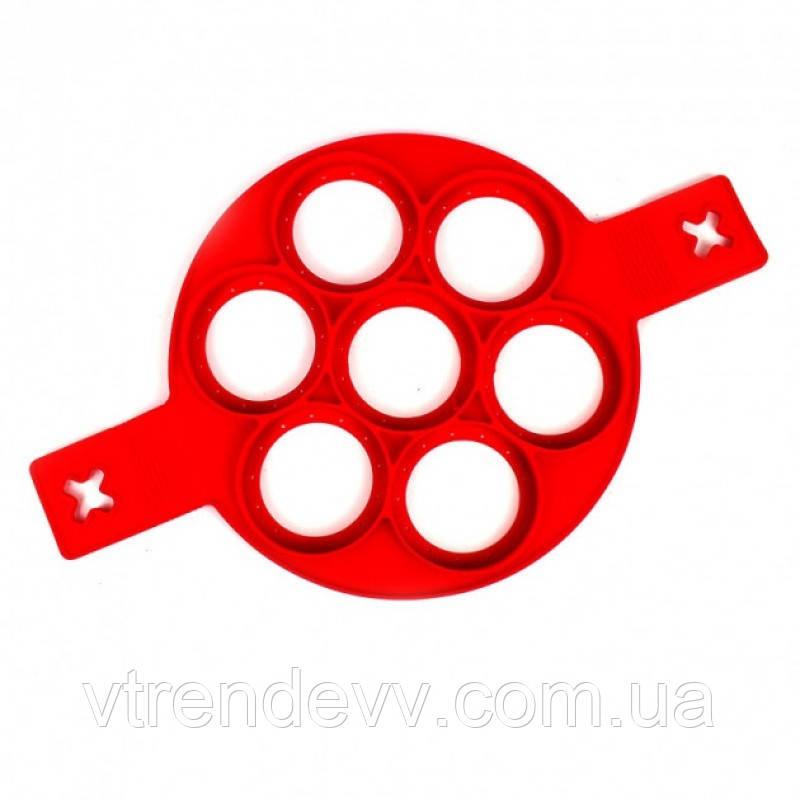 Силиконовая форма для выпекания оладий Flippin Fantastic красная
