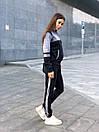 Спортивный женский костюм с мастеркой на молнии и вставками люрекса 52spt734, фото 3