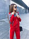 Спортивный женский костюм с мастеркой на молнии и вставками люрекса 52spt734, фото 5