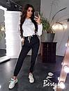 Женский спортивный костюм с худи с капюшоном и штанами с лампасами 66spt738Q, фото 4