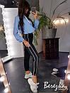 Женский спортивный костюм с худи с капюшоном и штанами с лампасами 66spt738Q, фото 6