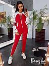 Спортивный женский костюм с кофтой на молнии и контрастными вставками 66spt739Q, фото 3