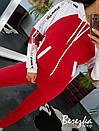 Спортивный женский костюм с кофтой на молнии и контрастными вставками 66spt739Q, фото 4
