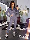 Женский брючный костюм с карго брюками и бомбером на молнии 66kos190Е, фото 2