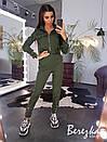 Женский брючный костюм с карго брюками и бомбером на молнии 66kos190Е, фото 3