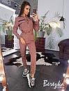 Женский брючный костюм с карго брюками и бомбером на молнии 66kos190Е, фото 6