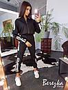 Женский костюм брючный с карго штанами и бомбером со светоотражающими вставками 66kos192Е, фото 3