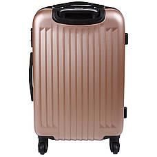 Валіза Wallaby середній пластиковий ABS 57(+6)х39х27(+3) сріблясто-рожевий в 6265-22роз, фото 3