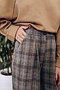 Женские клетчатые брюки - клеш из трикотажа 14bil377, фото 2