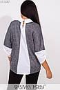 Трикотажная женская блуза в больших размерах с имитацией двойки 1blr227, фото 2