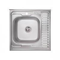 Кухонная мойка Platinum 6060 L Satin 0,7мм
