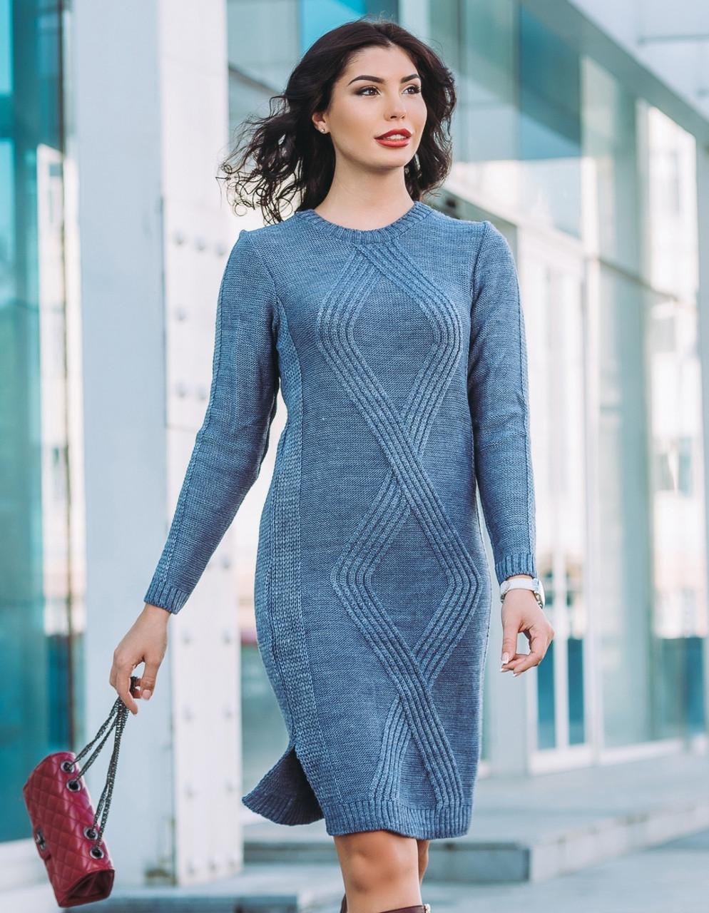 Платье вязаное Кира