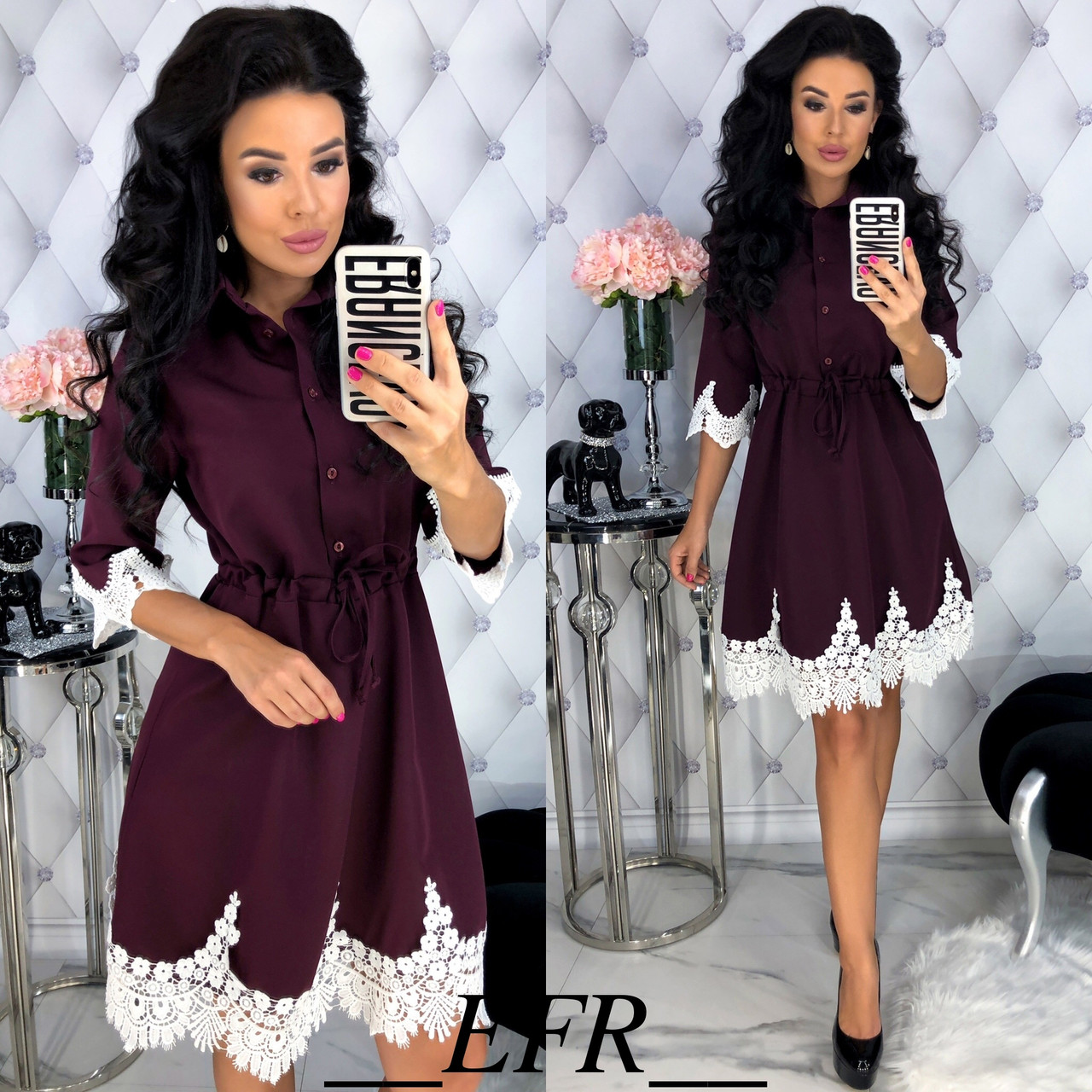 Прелестное платье с кружевом