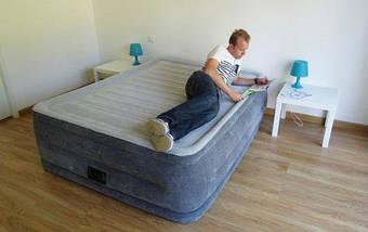 Надувная кровать Intex 64418 (203х152х56) - электронасос., фото 3