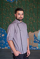 Китель шеф-повара серого цвета, униформа для повара, индивидуальный пошив, все размеры