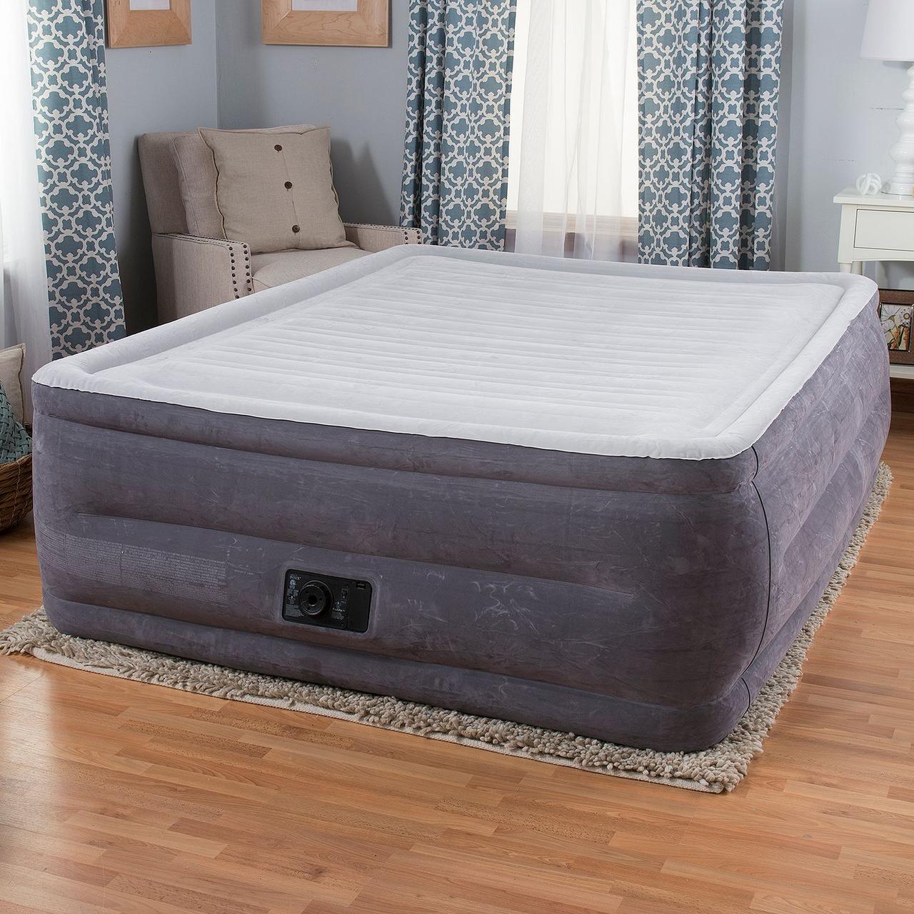 Надувная кровать Intex 64418 (203х152х56) - электронасос.