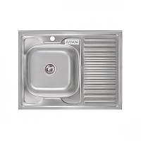 Кухонная мойка Platinum 8060 L Satin 0,6мм