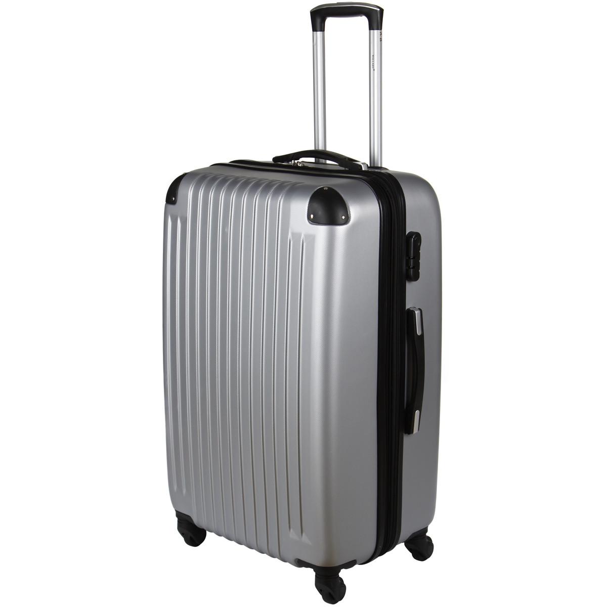 Чемодан Wallaby пластиковый  ABS большой  67(+6)х44х29(+3) серый   в 6265-26сер