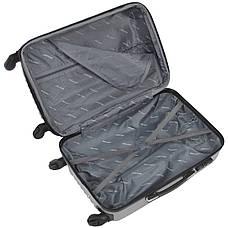 Чемодан Wallaby пластиковый  ABS большой  67(+6)х44х29(+3) серый   в 6265-26сер, фото 3