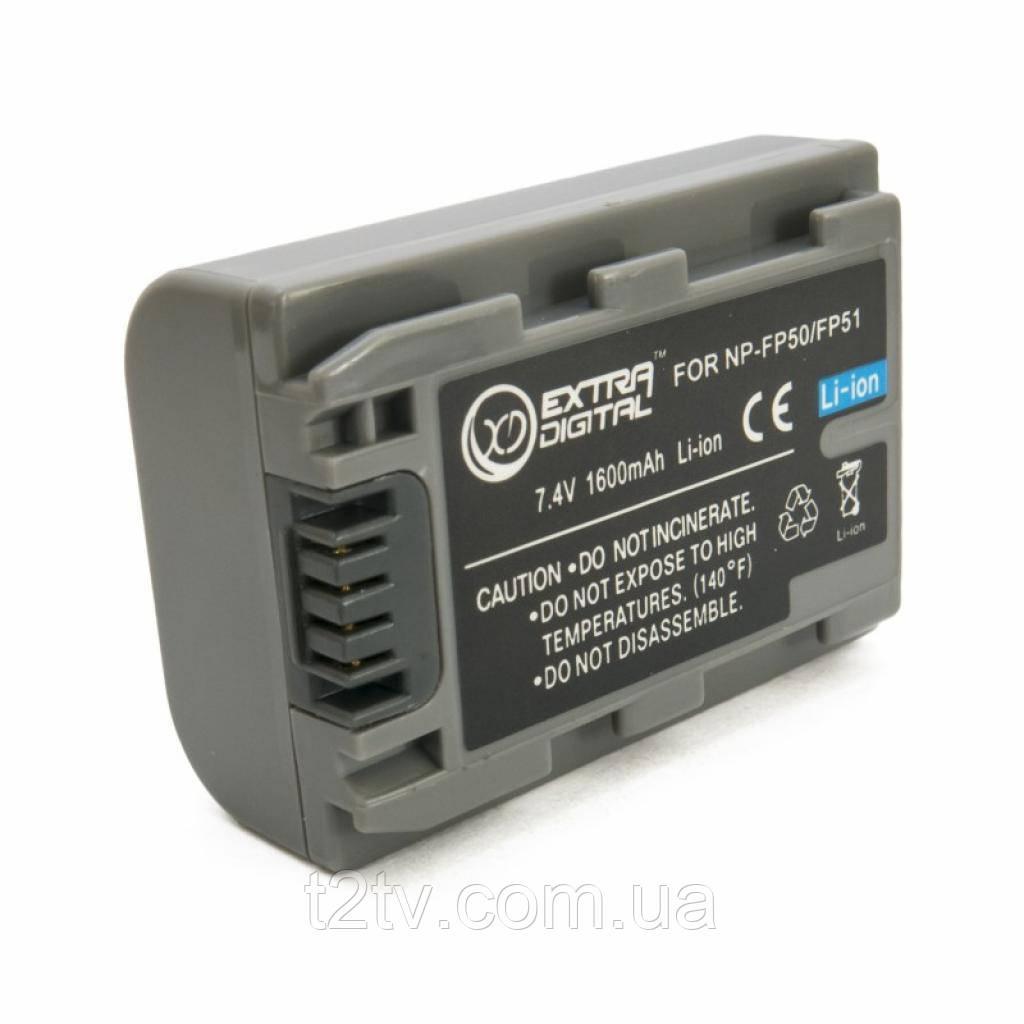 Аккумулятор к фото/видео EXTRADIGITAL Sony NP-FP50 (BDS2667)