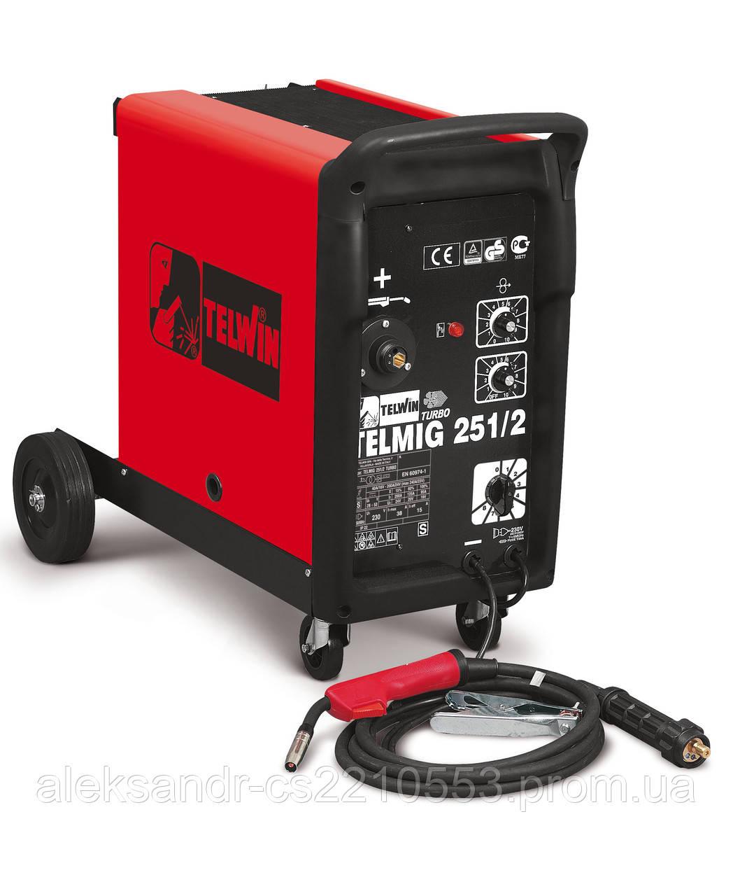 Telwin Telmig 251/2 Turbo - Зварювальний напівавтомат 30-240 А
