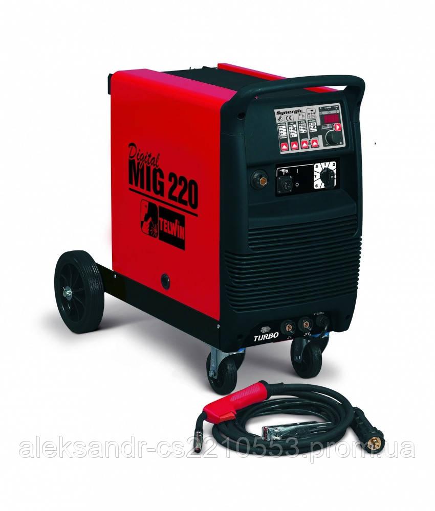 Telwin DigitalMig 220 Synergic - Сварочный полуавтомат 20-220 А