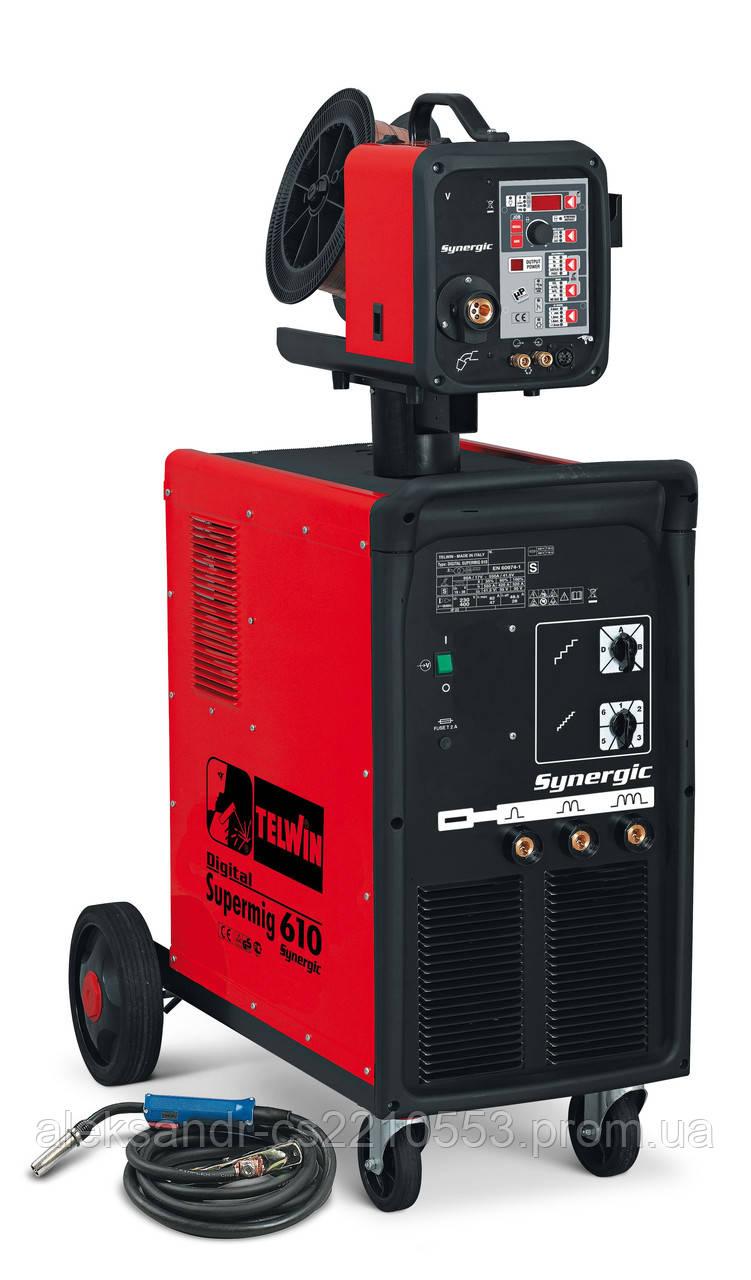 Telwin Digital SuperMig 610 Synergic Aqua - Сварочный полуавтомат 60-550 А