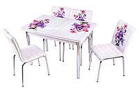 """Комплект обеденной мебели """"Mor Acelya"""" стол ДСП, каленное стекло + 4 стула() Mobilgen, Турция"""