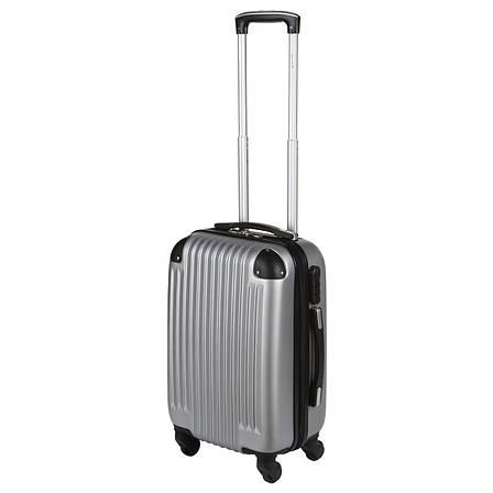 Чемодан Wallaby пластиковый ABS малый  47(+6)х32х20 серый  в 6265-18сер, фото 2