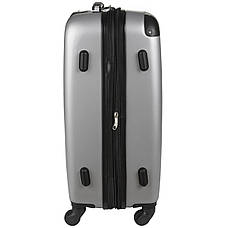 Чемодан Wallaby пластиковый ABS малый  47(+6)х32х20 серый  в 6265-18сер, фото 3
