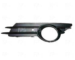 Решетка бампера левая Opel Corsa 07. 06-11 с отверстием под противотуманную фару (DEPO)