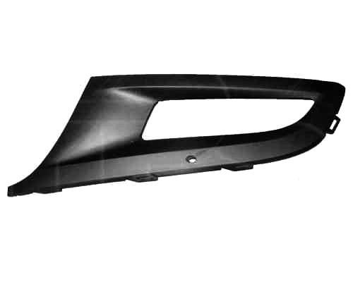 Решітка бампера ліва VW POLO V з отвором під протитуманні фару (FPS). 6R0853665D