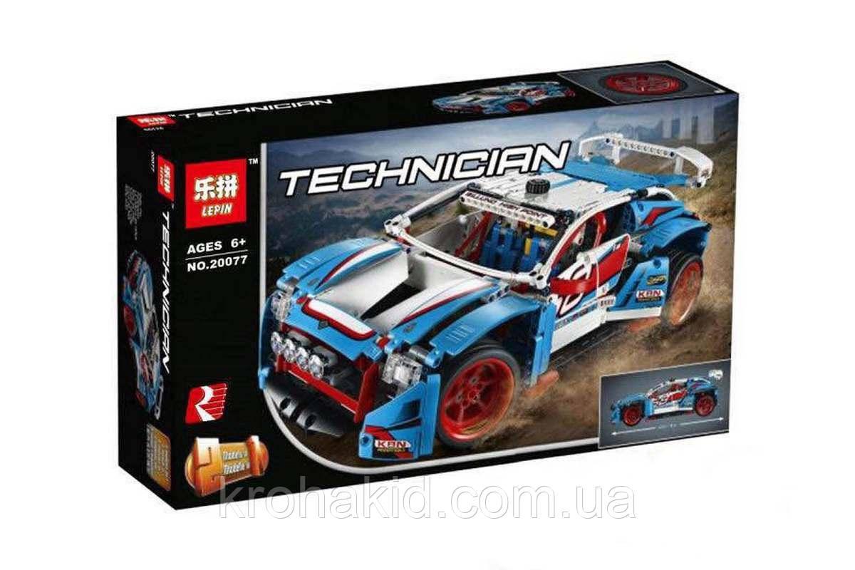 "Конструктор  Lepin 20077 ""Гоночная машина 2в1"" (аналог Lego Technic 42077), 1085 дет"