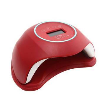 Лампа Led/uv 48W з дисплеєм, SUNQ1 червона, 24 діода з дисплеєм
