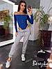 Женский спортивный костюм с боди и штанами джоггерами 66msp736Е