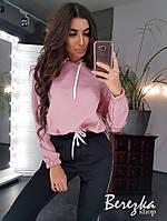 Женский спортивный костюм с худи с капюшоном и штанами с лампасами 66msp738Q